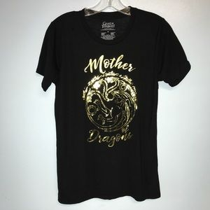 Game of thrones women's medium black t-shirt